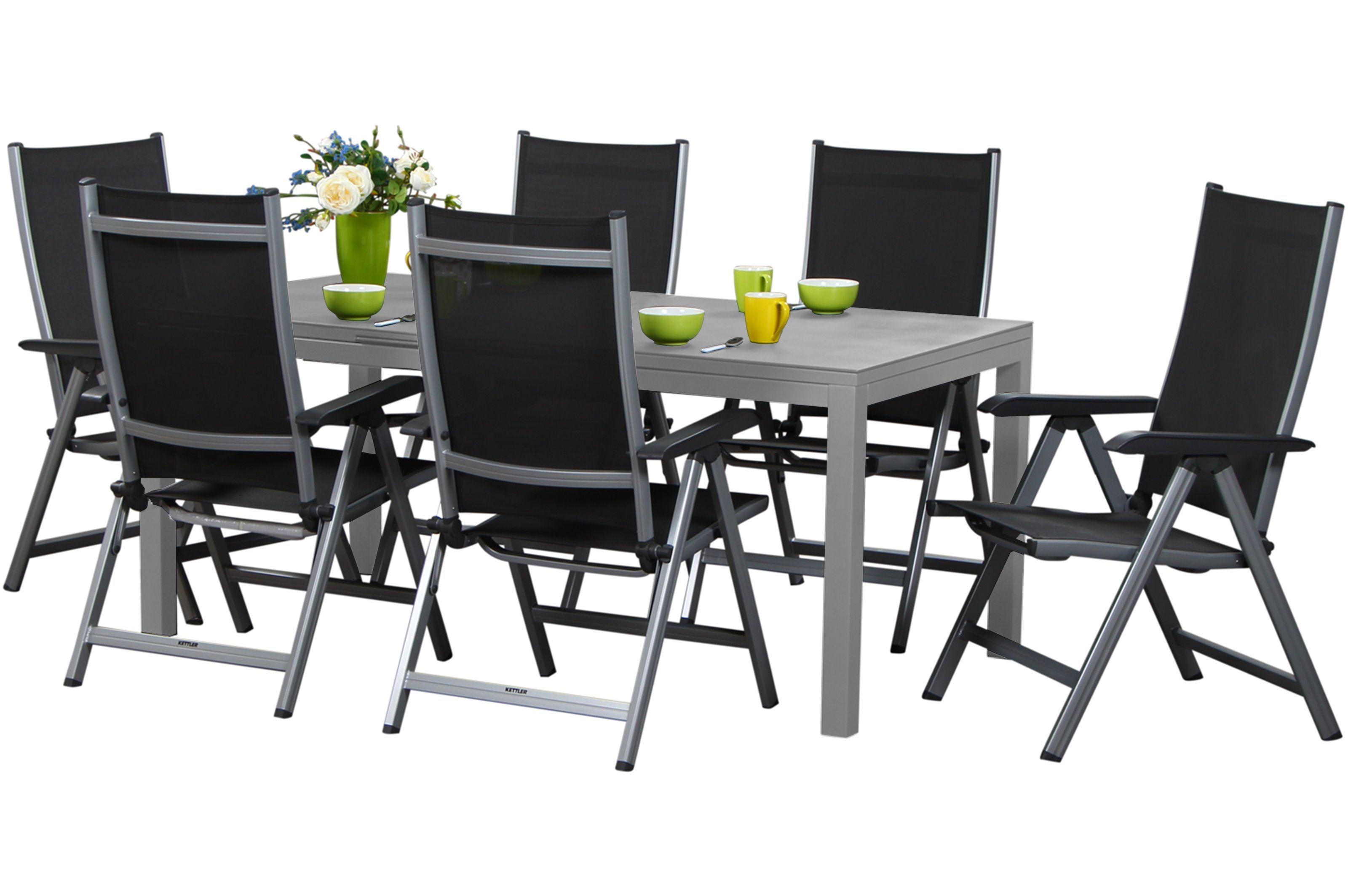 Kettler Basicplus Set 6 Sessel Tisch Silber Gartenmoebel De Gartenmobel Kettler Gartenmobel Terrassen Einrichtung