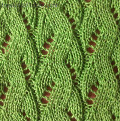 Sea knitting stitches