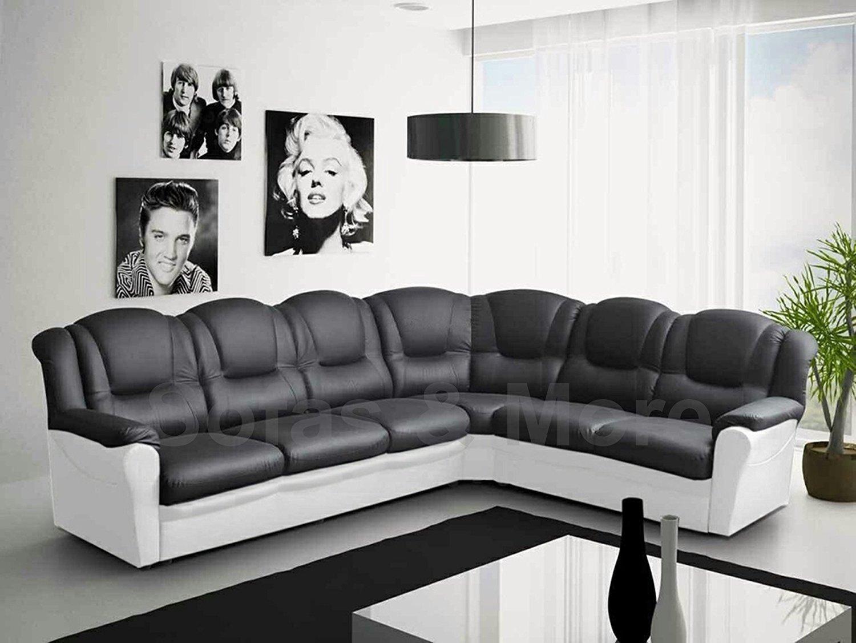 Black Leather Sofa For Sale In 2020 Leather Corner Sofa White Sofa Set Big Corner Sofa