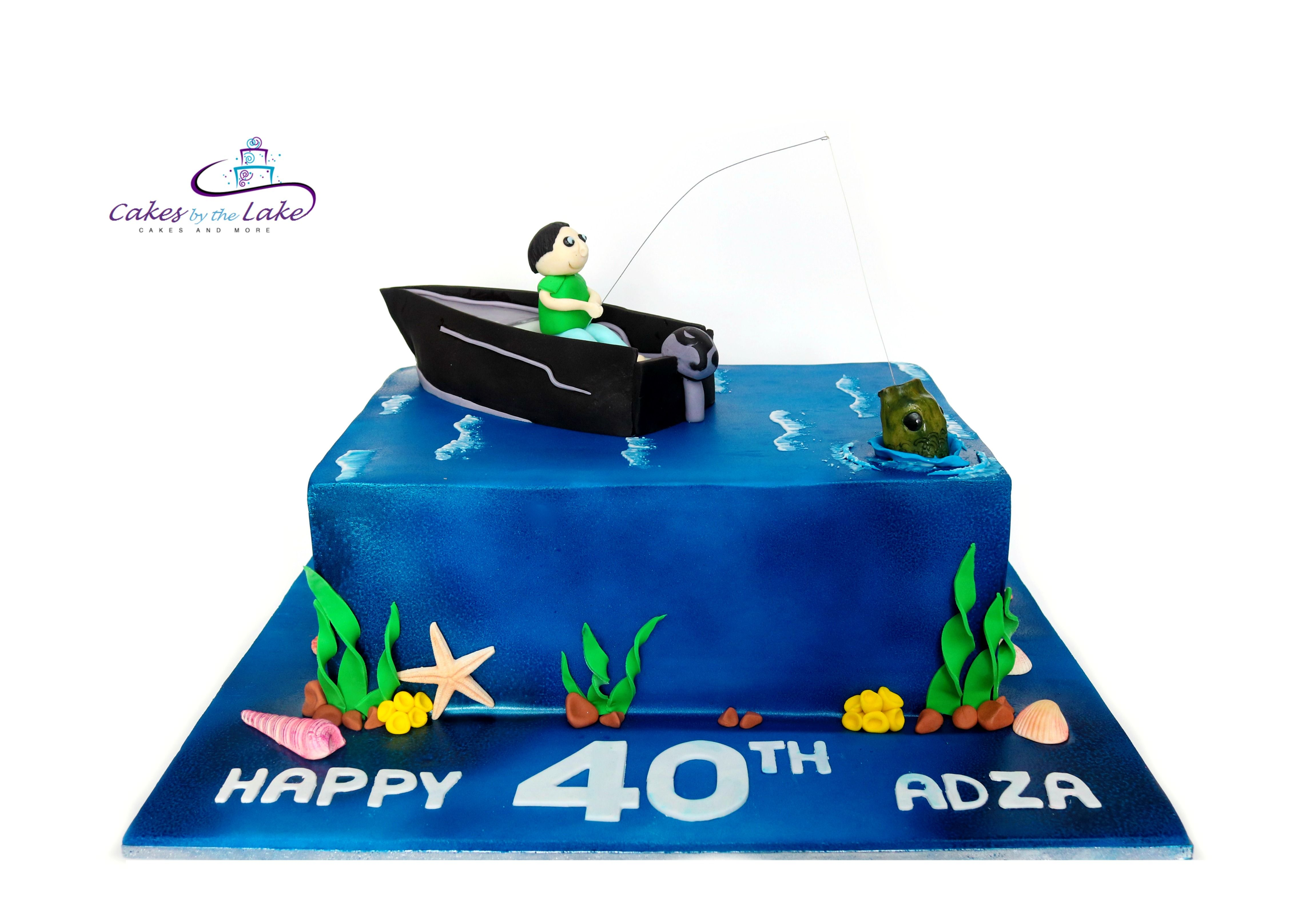 Fishing boat cake we got out on the water with this