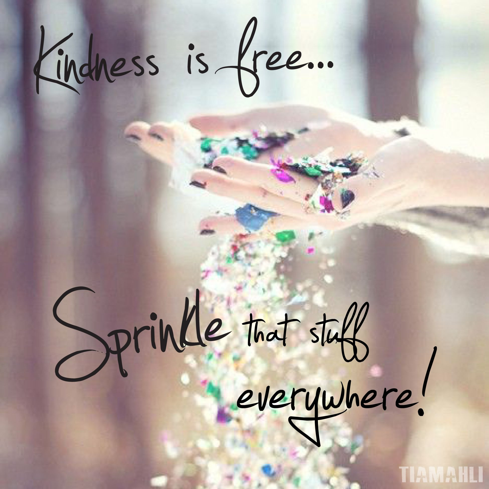 Kindness Is Free Sprinkle That Stuff Everywhere #Boho #Leather #Meme