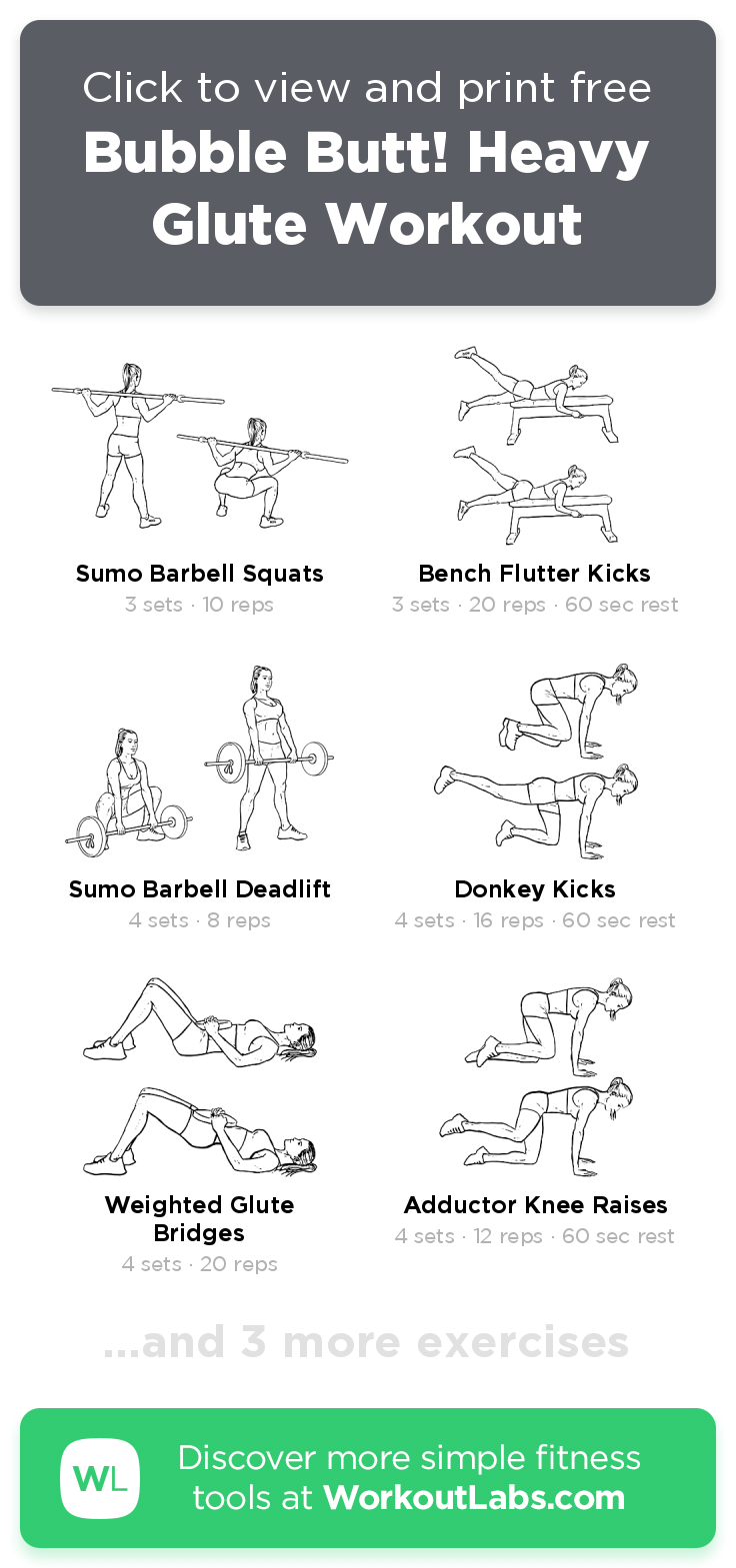 Bubble Butt! Heavy Glute Workout · WorkoutLabs Fit