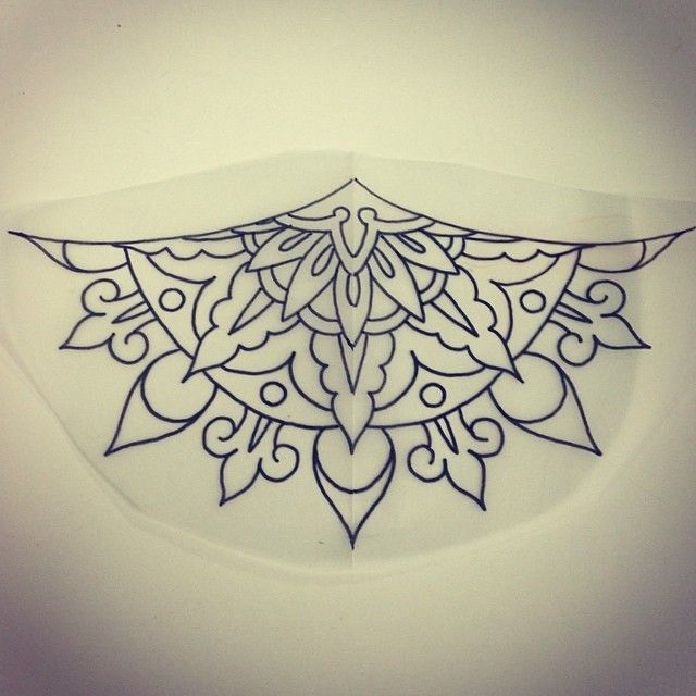 Tattoo Designs Up For Grabs: Another Mandala Sternum/underboob Design Up For Grabs