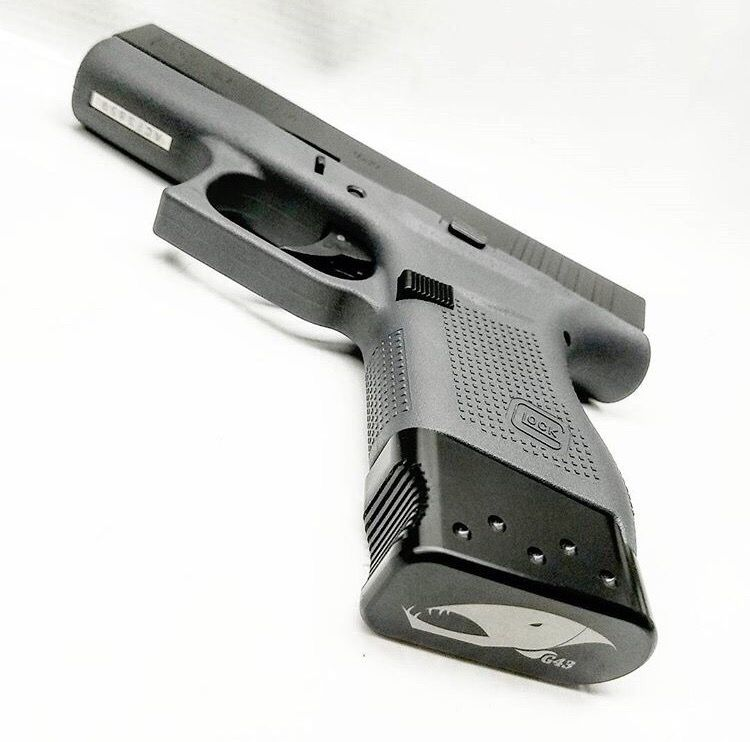 Glock 43 Magazine extensions or base plate  Amazing from Barracuda