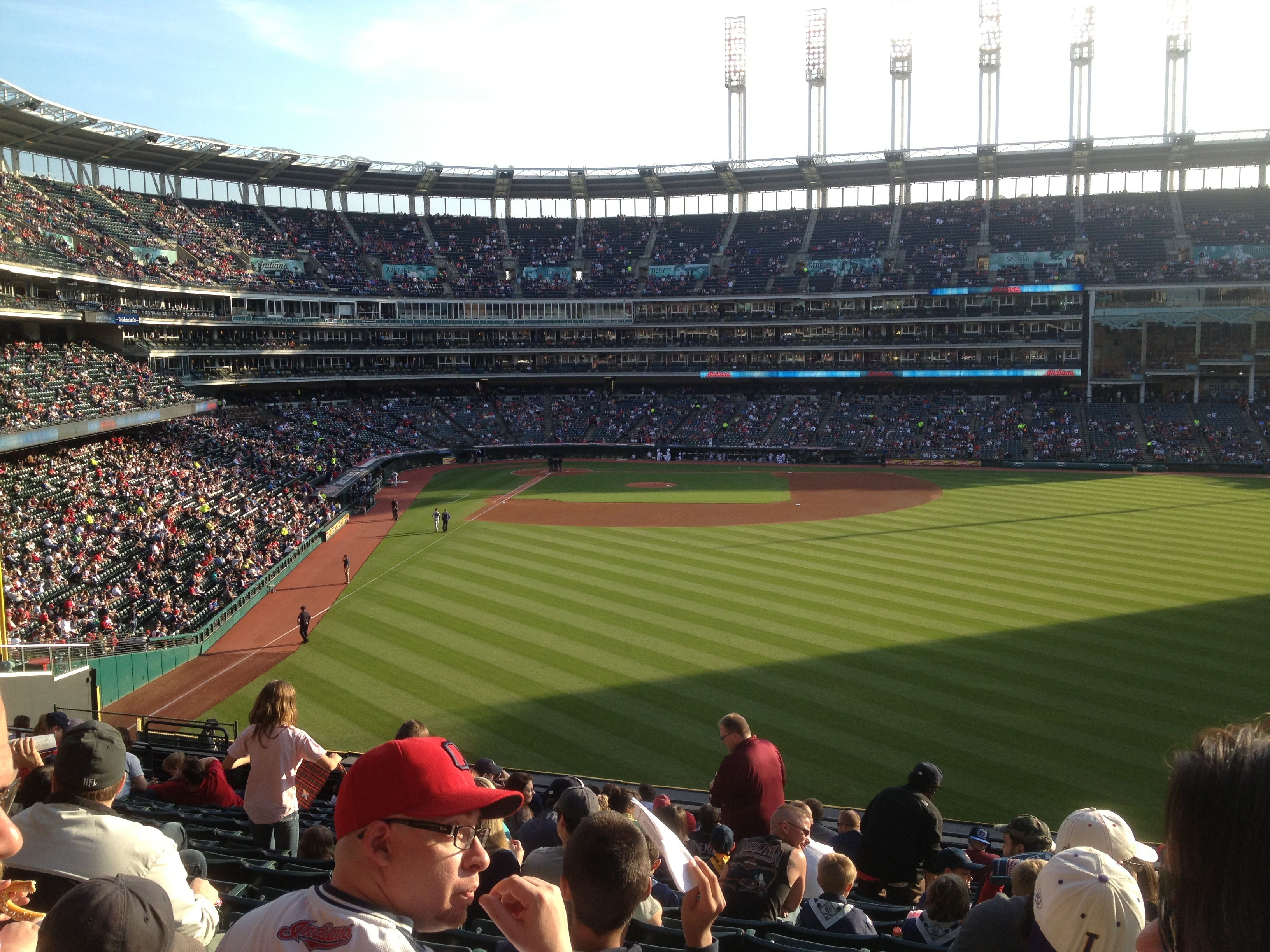 A day at the ballgame - Cleveland, Indians Progressive Field.