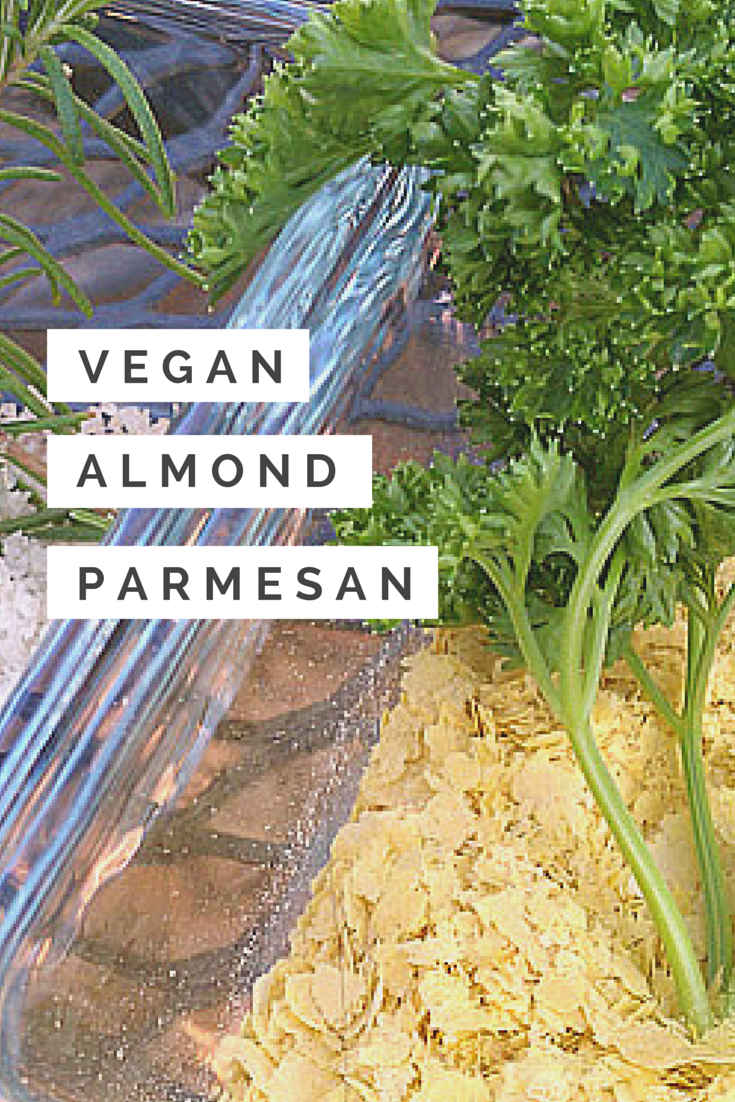 Super easy DIY Vegan Almond Parmesan recipe. I put it on pastas, soups, salads and more!
