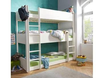 Etagenbett Mit 3 Schlafgelegenheiten : Etagenbett mit schlafgelegenheiten weiß cm für