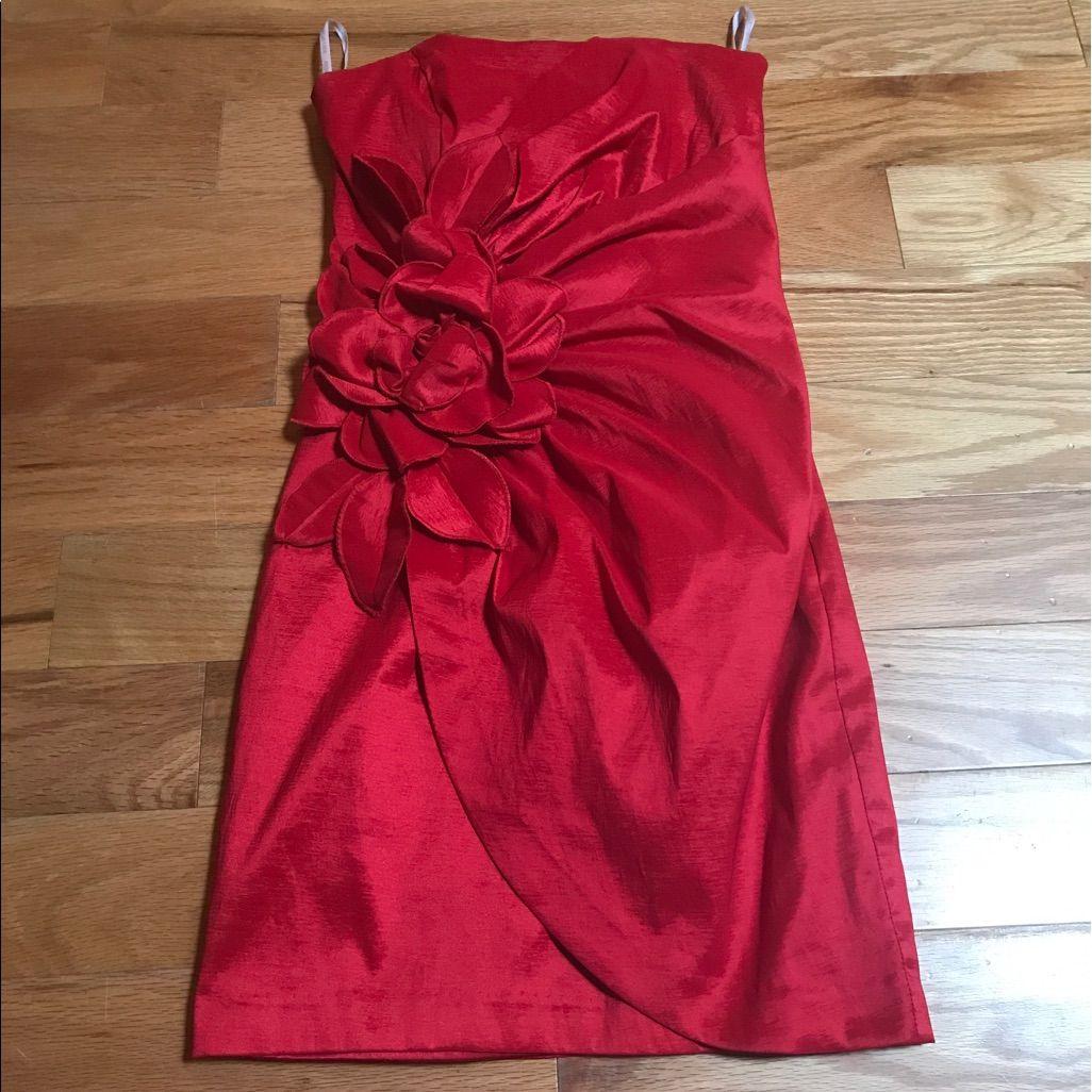 Jessica Mcclintock Strapless Prom Dress Mini Dress