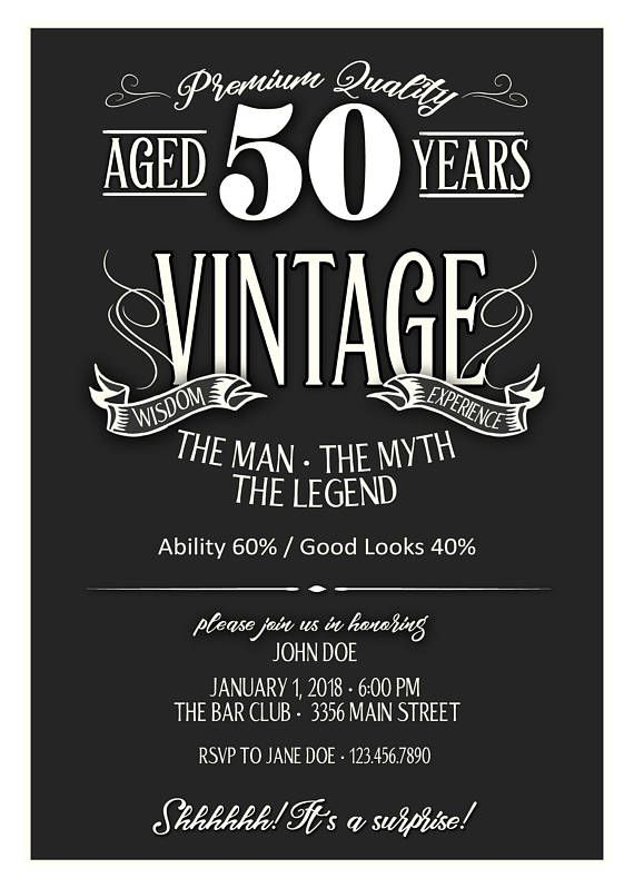 50th Birthday Invitation For Men Cheer And Beer