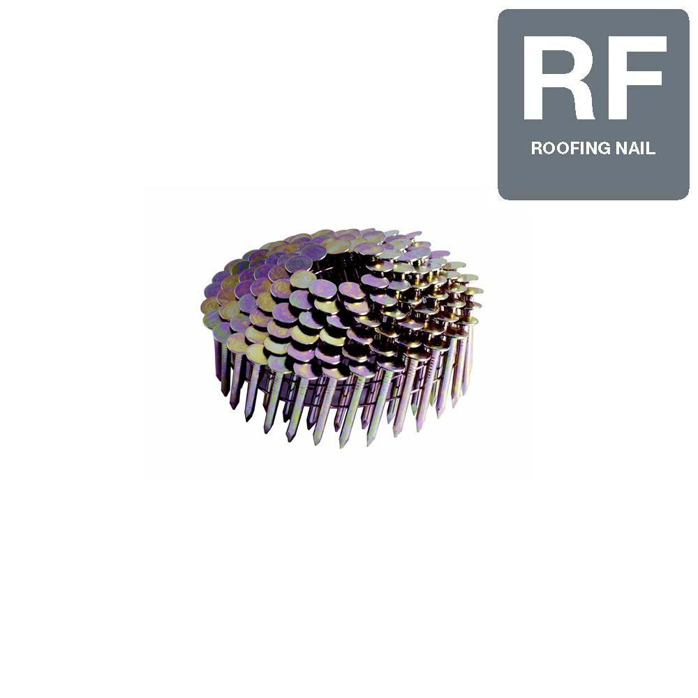 Grip Rite 1 1 2 In Wire 7 2m Electro Galvanized Steel Coil Roofing Nails 7 200 Per Box Roofing Nails Steel Nails Nail Length