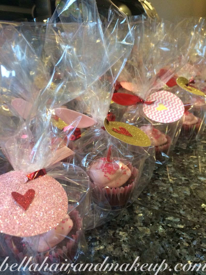 Vday treats for Lakes class! I got the cups, cupcake wraps/toppers, spoons and plastic all for a $1 each at the dolls tree.
