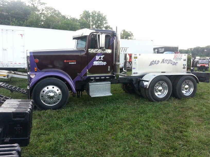 BAD ATTITUDE pro stock pulling semi | Pulling | Truck