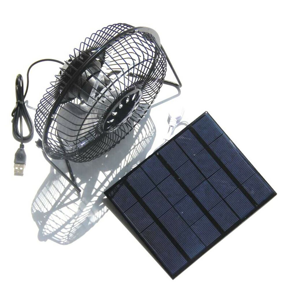 Solar Panel Fans Outdoor for Camping Home Chicken House RV