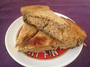 Gluten Free Poblano and Chipotle Cornbread: 177 calories, 3g fat, 1g sat fat, 373mg sodium, 1g fiber, 1mcg Vitamin K
