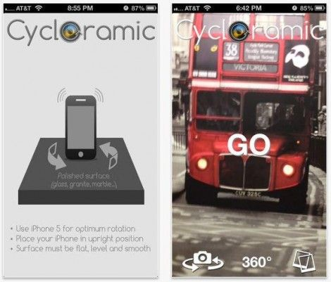 Cycloramic App Cycloramic App Takes Panoramic Videos By Letting