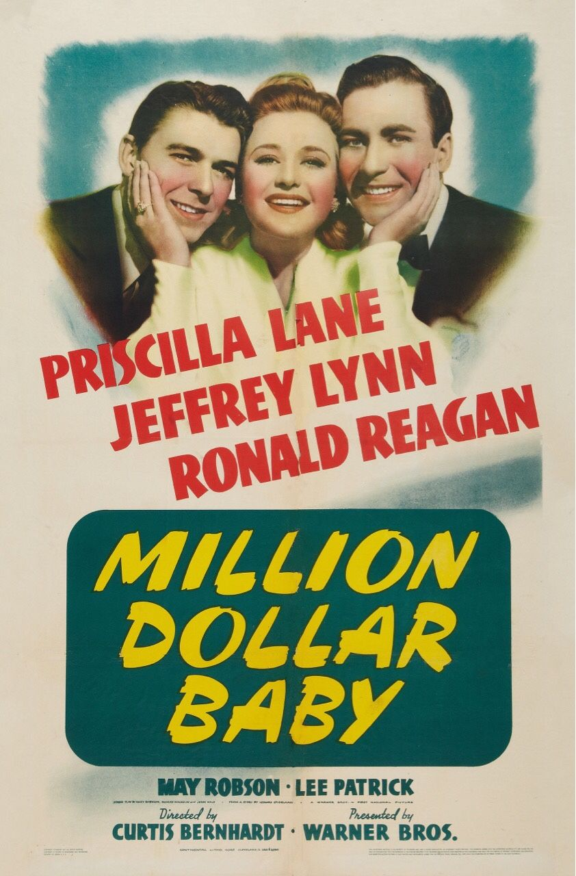 Million Dollar Baby 1941 Priscilla Lane Jeffrey Lynn Ronald