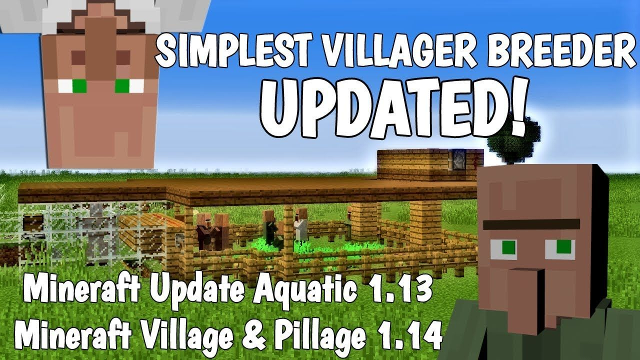 Simple Villager Breeder Farm How To Make A Villager Breeder In Minecraft 2019 With Avomance Youtube Minecraft Redstone Tutorial Minecraft Breeders