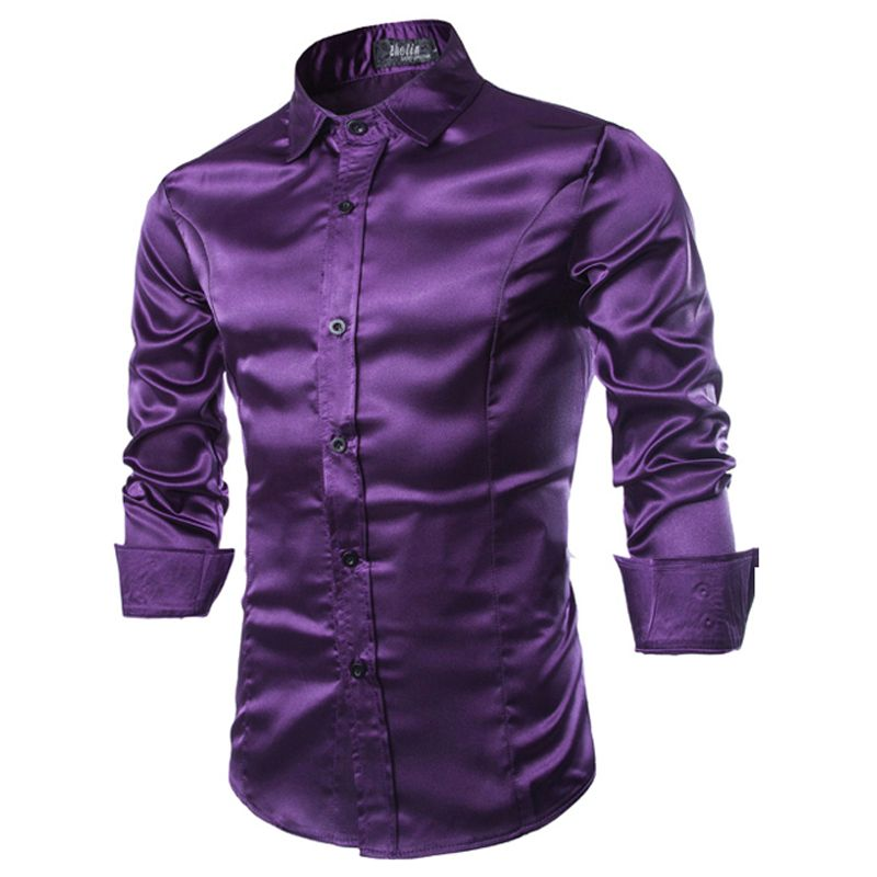 purple shiny formal shirts for men - Google Search www.ebay.co.uk ...