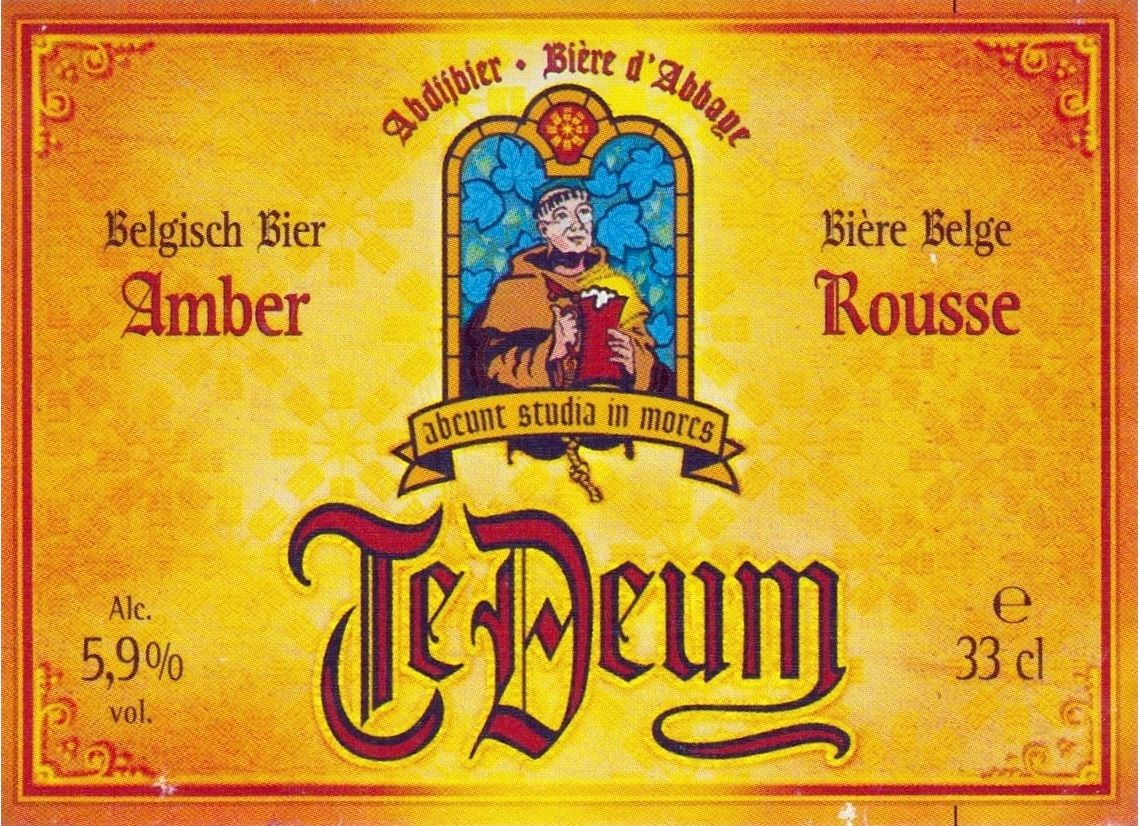 Te Deum Amber, Belgian Ale 5,9% ABV (Brasserie Du Bocq, Bélgica) #label