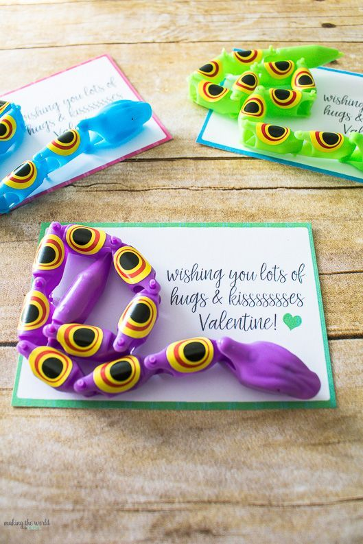 Cute Free Printable Snake Valentine Cards  Free printable and Cards
