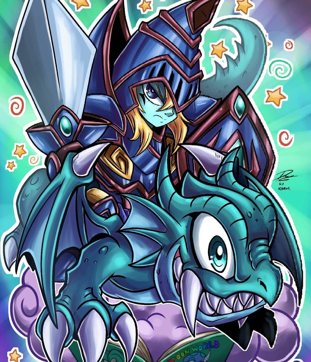 Kraus arts on instagram toon dark magician the dragon