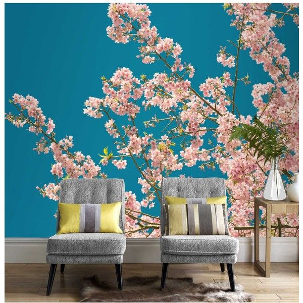 Graham Brown Cherry Blossom Wall Mural Wallpaper 100 Liked On Polyvore Featuring