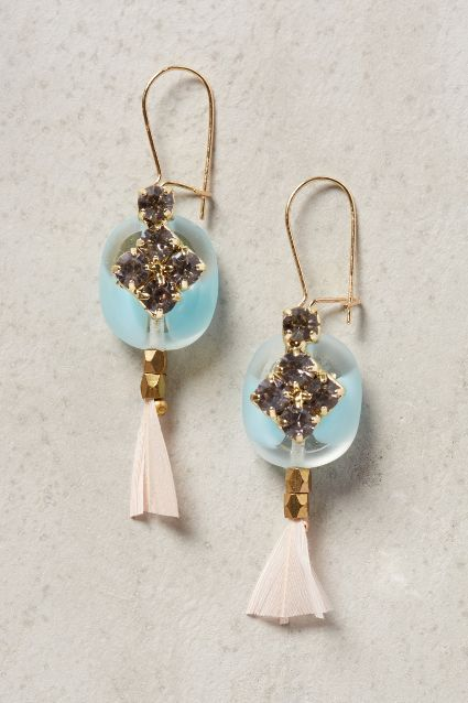 Plume-Tassel Drops - anthropologie.com