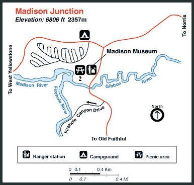 yellowstone madison campground map Madison Junction Destination Yellowstone Map Yellowstone Madison yellowstone madison campground map