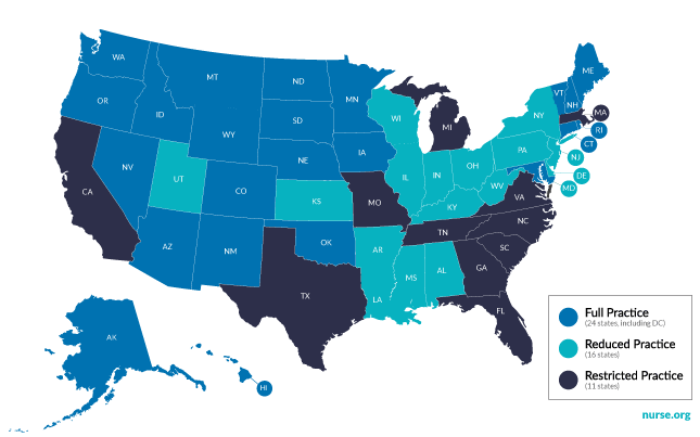 Nurse Practitioners Have Full Practice Authority In These States American Med Psychiatric Nurse Practitioner Nurse Practitioner Becoming A Nurse Practitioner