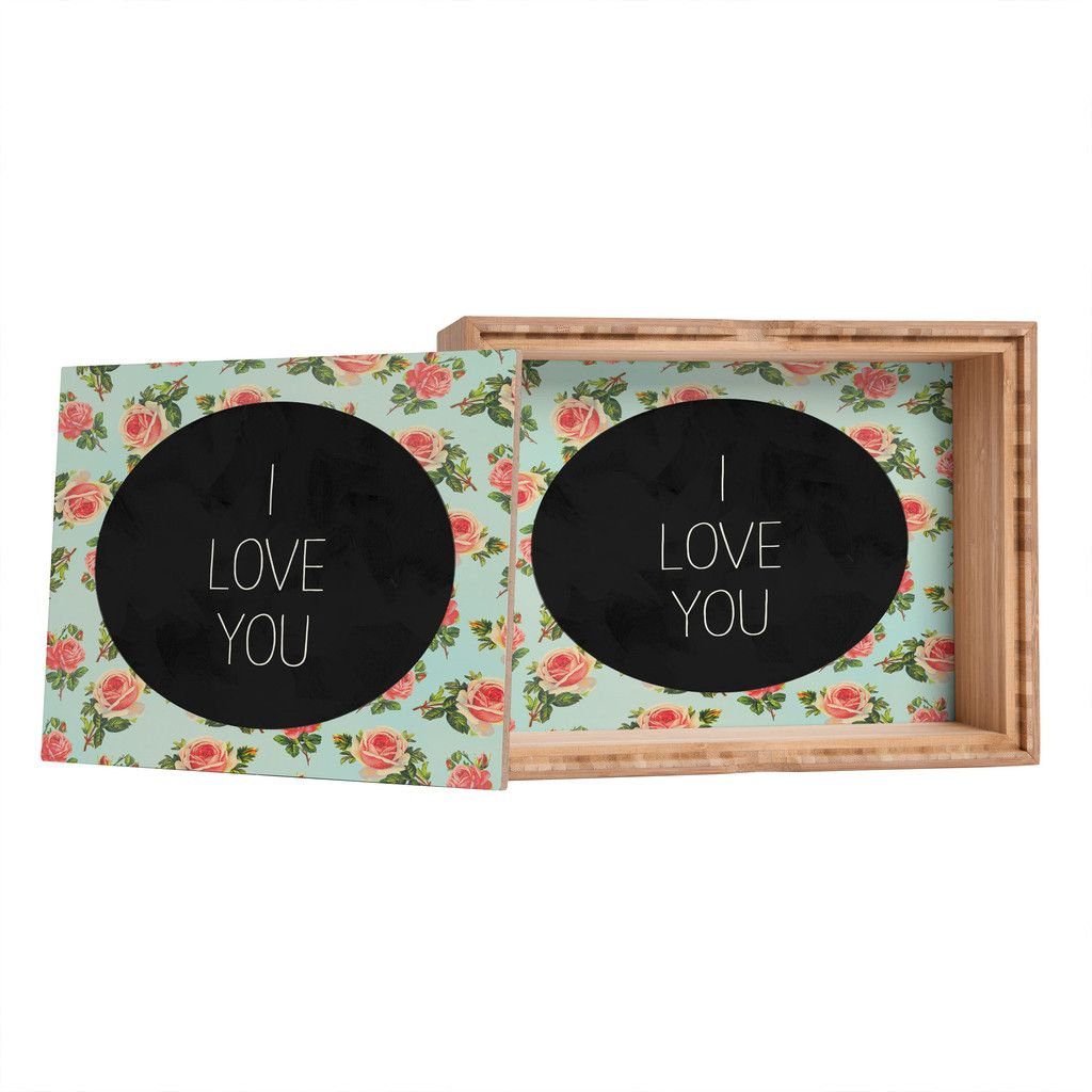 Allyson Johnson I Love You Floral Jewelry Box | DENY Designs Home Accessories  #denydesigns #denyholiday #jewelrybox #bogo