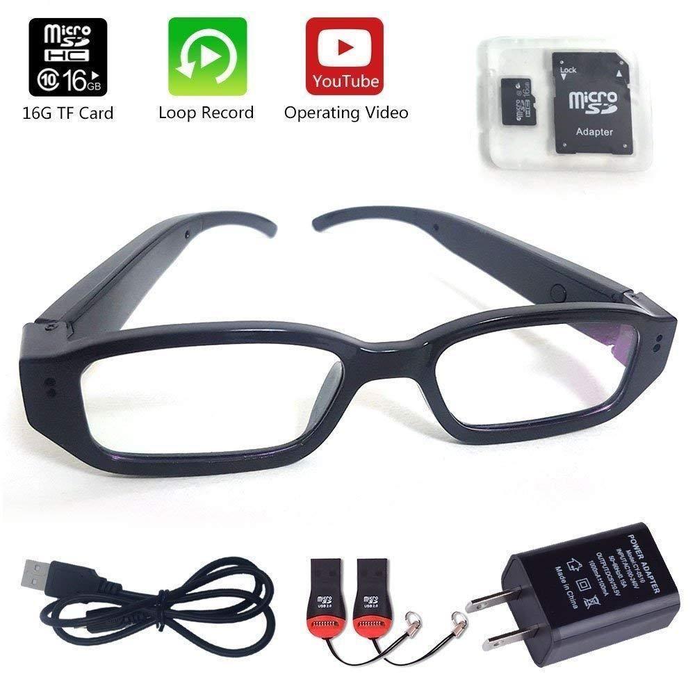 bc36c0710ffc Spy Eyeglasses Camera Glasses Hidden HD Eyewear Mini Portable DVR (16GB... (