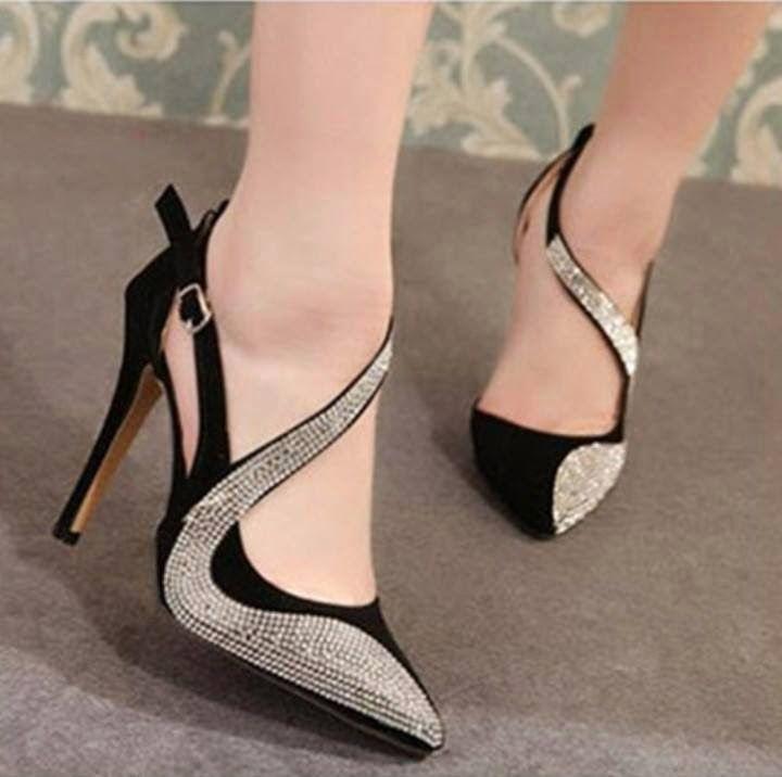 LeonColin New Women's High-Heeled Shoes Slingbacks Zipper Concise Sandals Peep Toe Lace-Up Woman Shoes Black US5-9