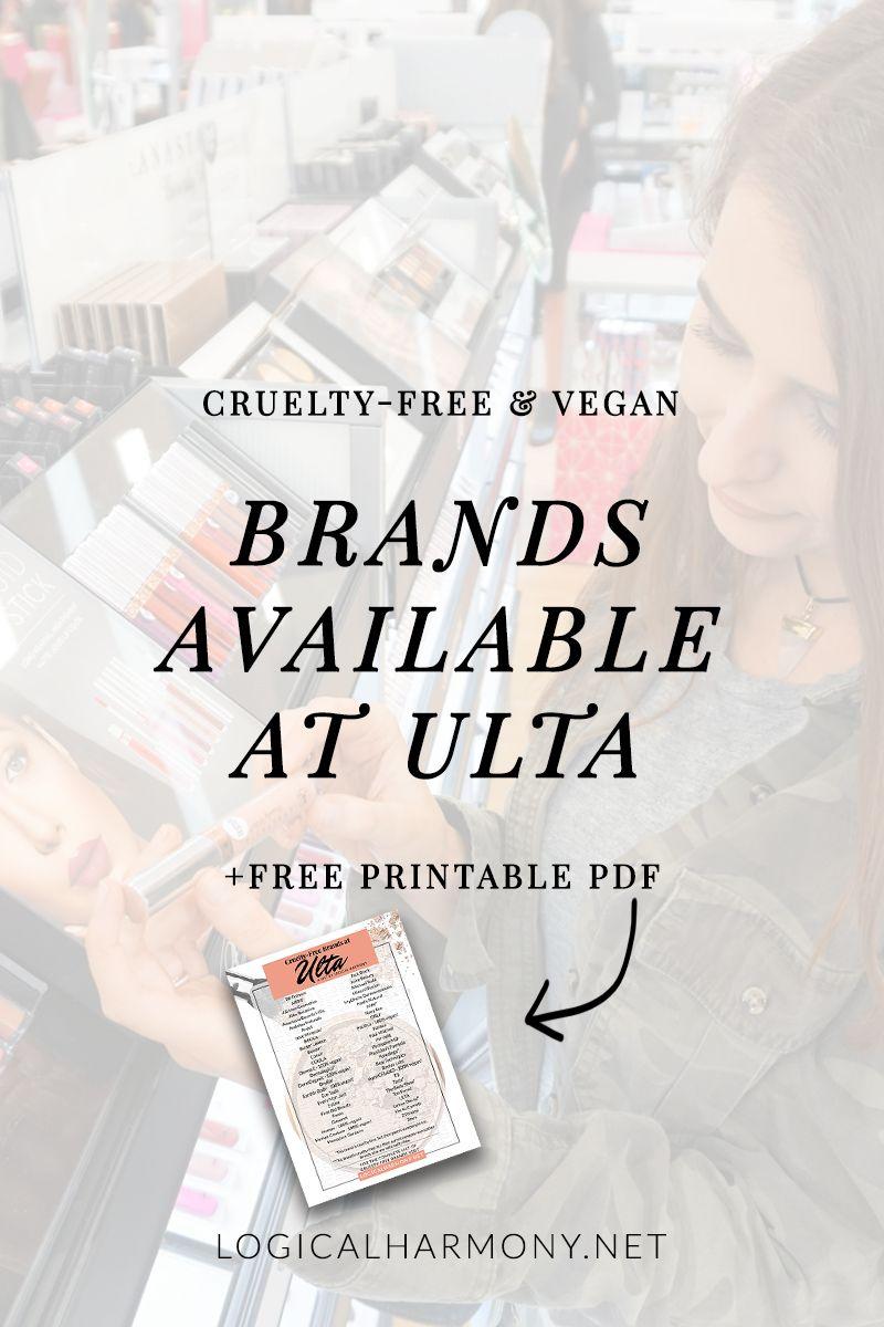 CrueltyFree Brands at Ulta (UPDATED FOR 2020 Cruelty