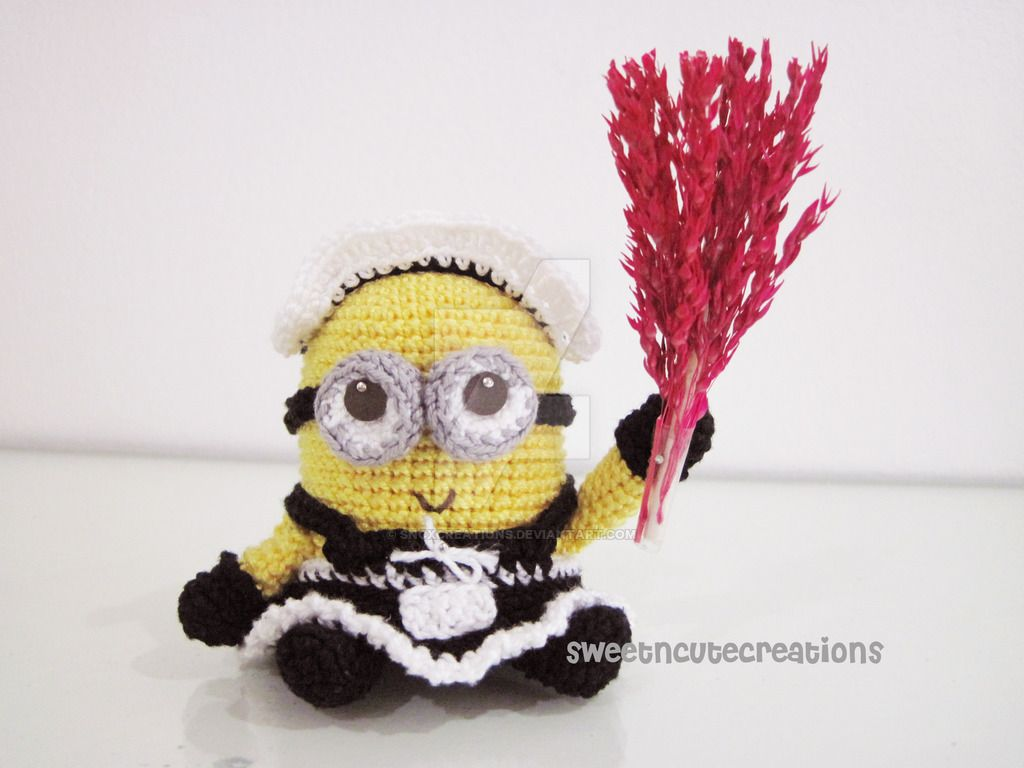 frenchie the 2 eyed minion in a french maid outfit by SNCxCreations ...