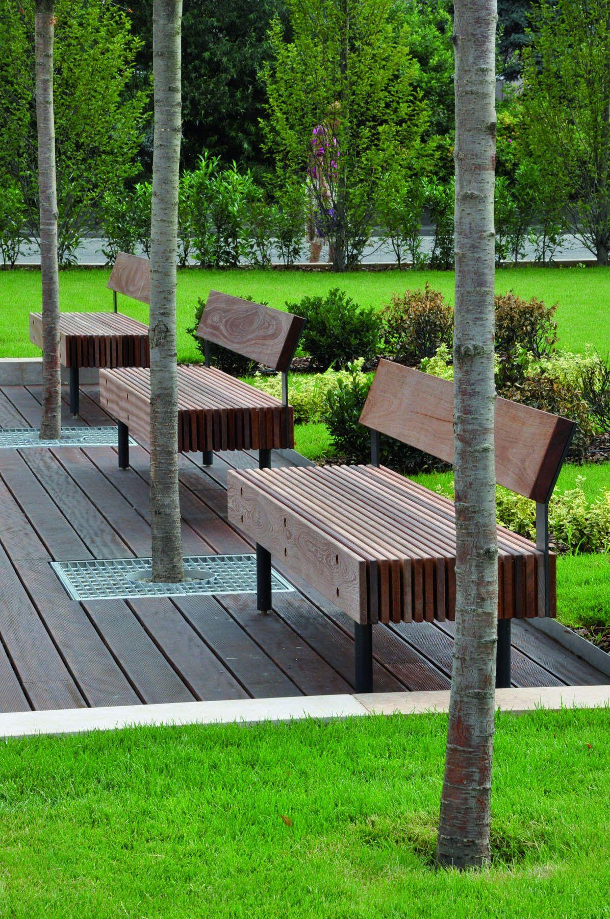 Banco Modelo E49 Bench Wood Modern Urban Furniture  # Meble Narcisse