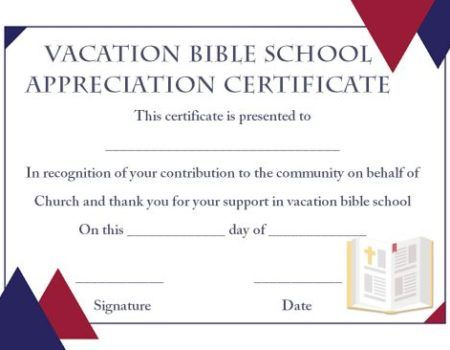 lifeway vbs certificate templates - Vbs Certificate Template