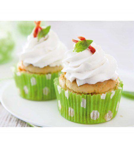 Des cupcakes salés au chèvre, chorizo et pistou