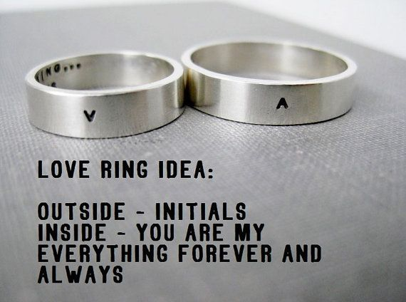 Quote Idea Personalized Ring Love Promise Wedding Anniversary