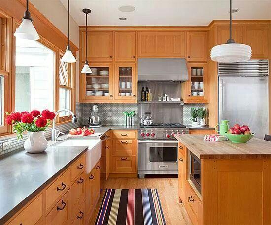 warm wood  natural light  kitchen design wood kitchen