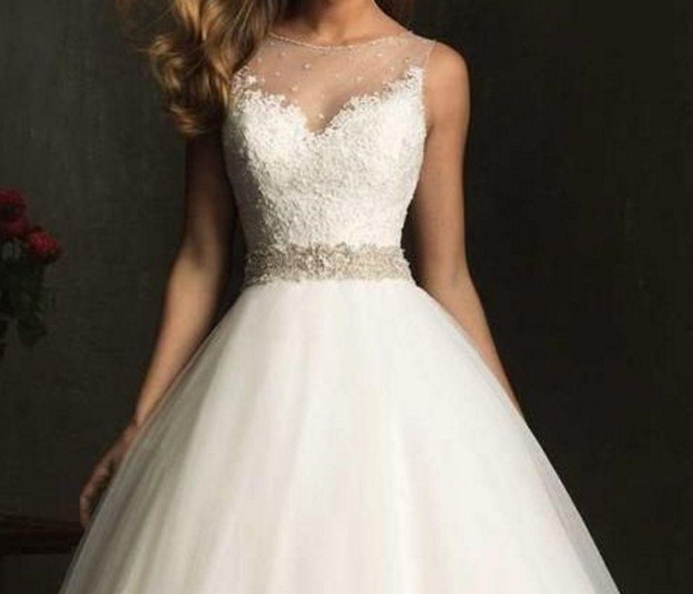 Brautkleid Spitze weiß Rückenauschnitt NEU 36 S | Wedding - Dress ...