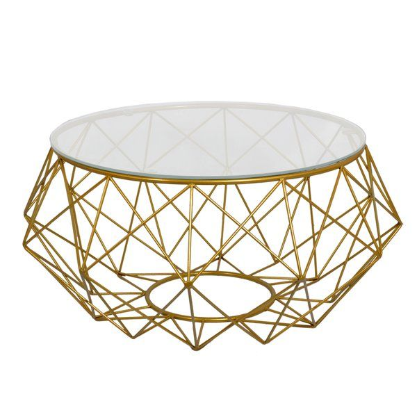 Statement Geometric Style This Large Glass Topped Diamond Wire
