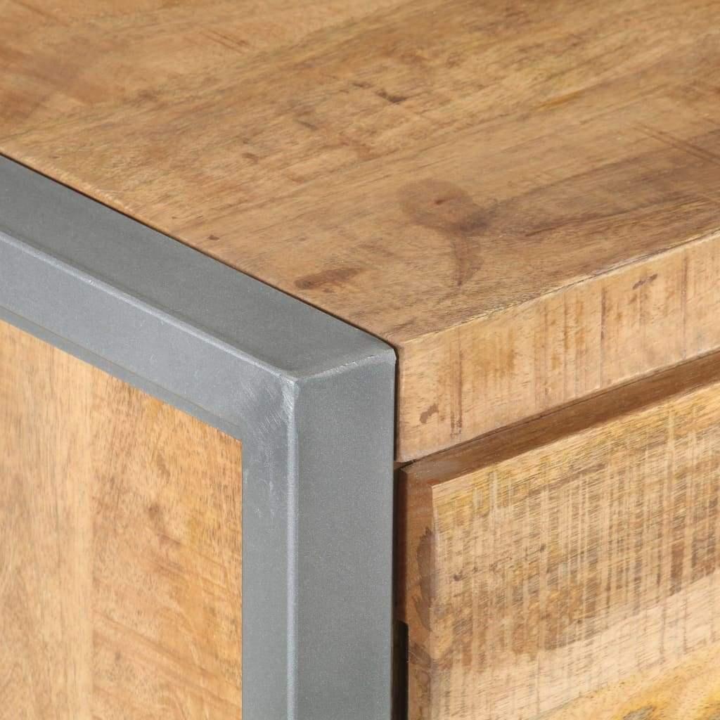 ZUN Bedside Cabinet 15.7″x11.8″x19.7″ Rough Mango Wood 32348…