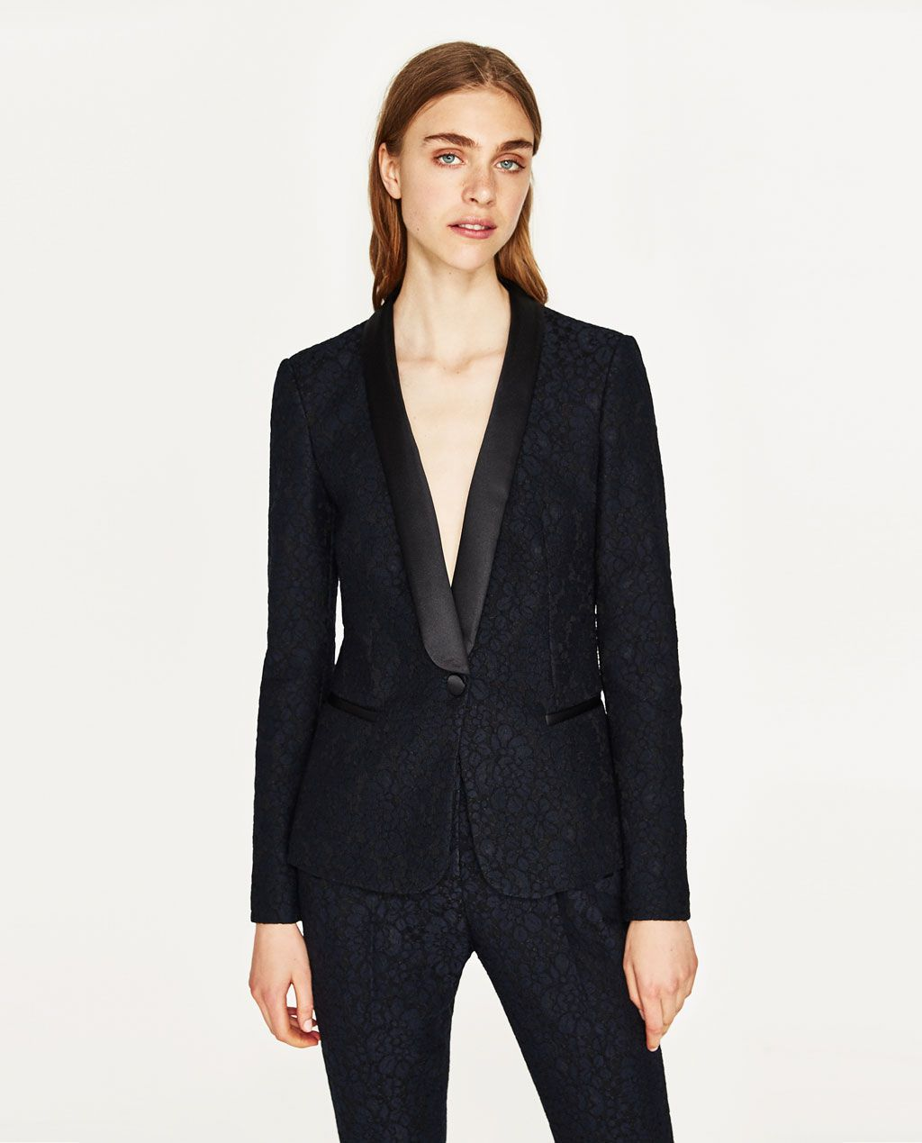 487c18b87c LACE TUXEDO JACKET-NEW IN-WOMAN | ZARA United States | COATS•CAPES ...
