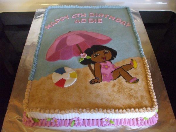 Beach Dora In 2019 Dora Cake Birthday Beach Party