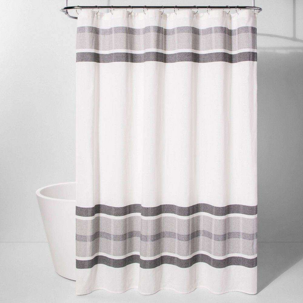 Engineered Plaid Shower Curtain White Project 62 In 2020 Plaid