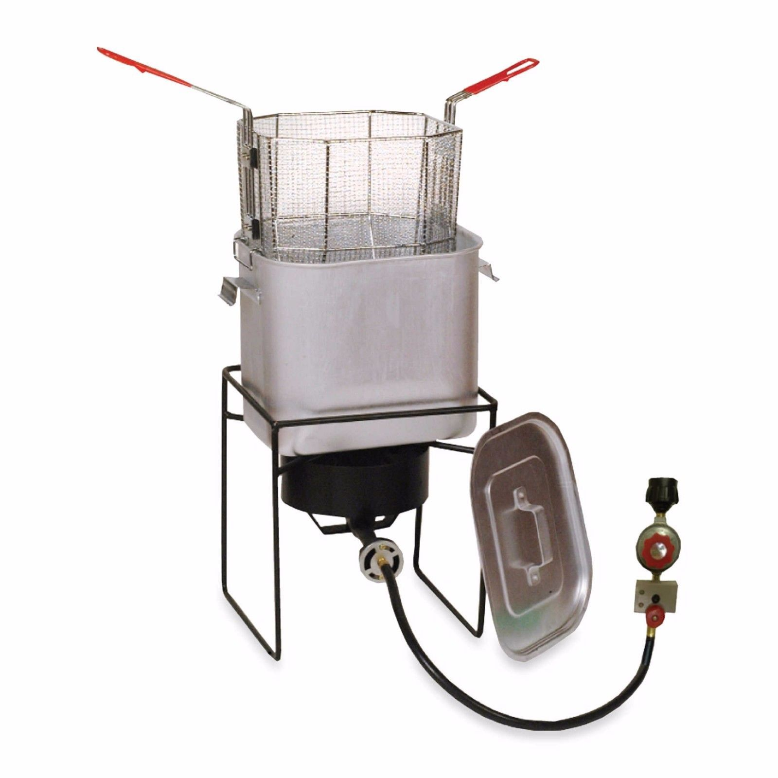 outdoor turkey chicken poultry deep fryer boiler simmer cooking pot bucket sta - Outdoor Deep Fryer