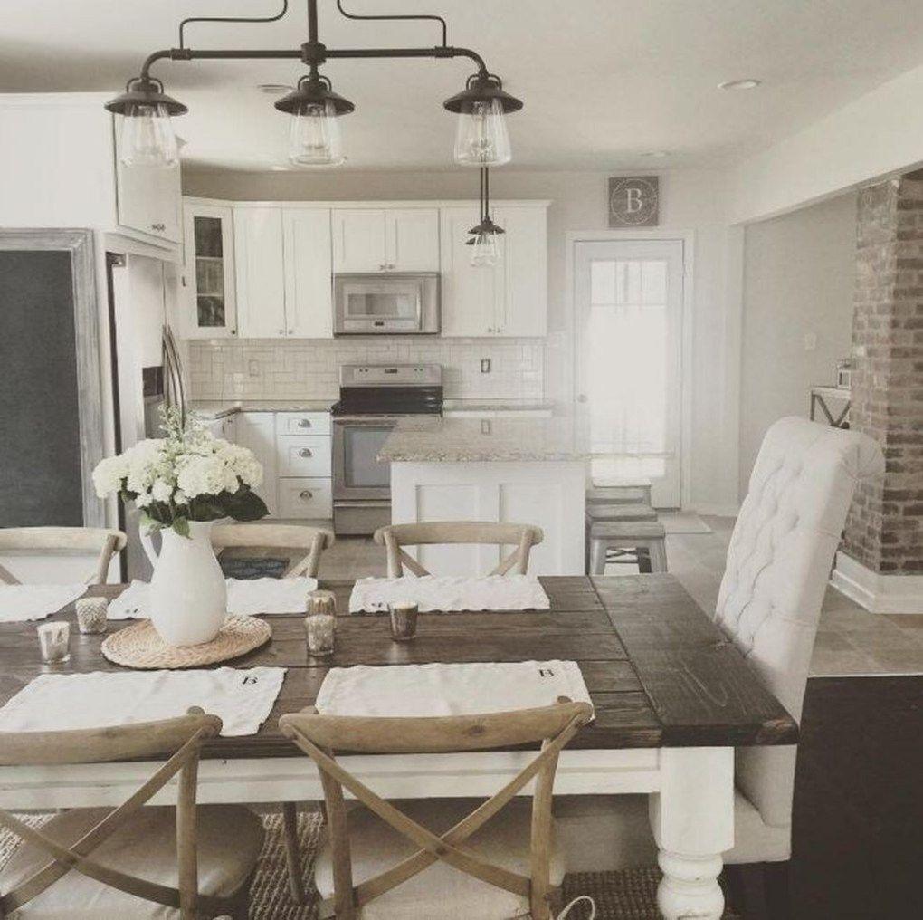 38 Beautiful Farmhouse Tables Ideas Match For Any House Trendehouse Modern Farmhouse Dining Room Farmhouse Dining Room Table Farmhouse Dining Room