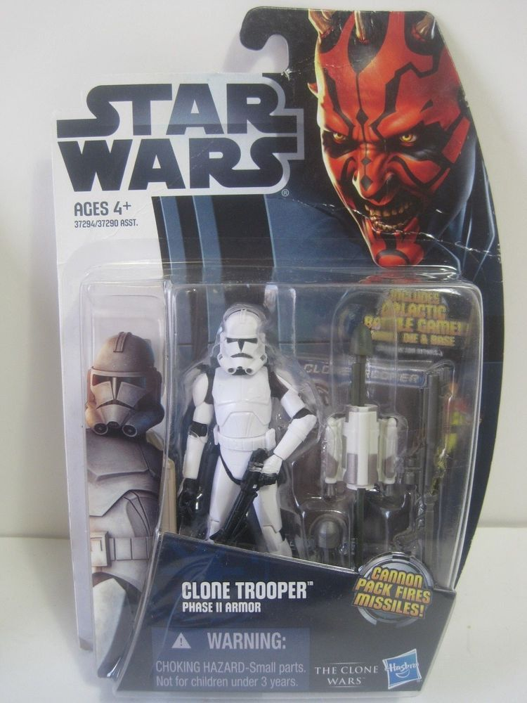 Star Wars CW2 Clone Trooper Phase II Armour Clone Wars Hasbro action figure 2012