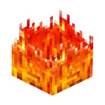 Papercraft Fire Block Paper Crafts Minecraft Birthday Fire