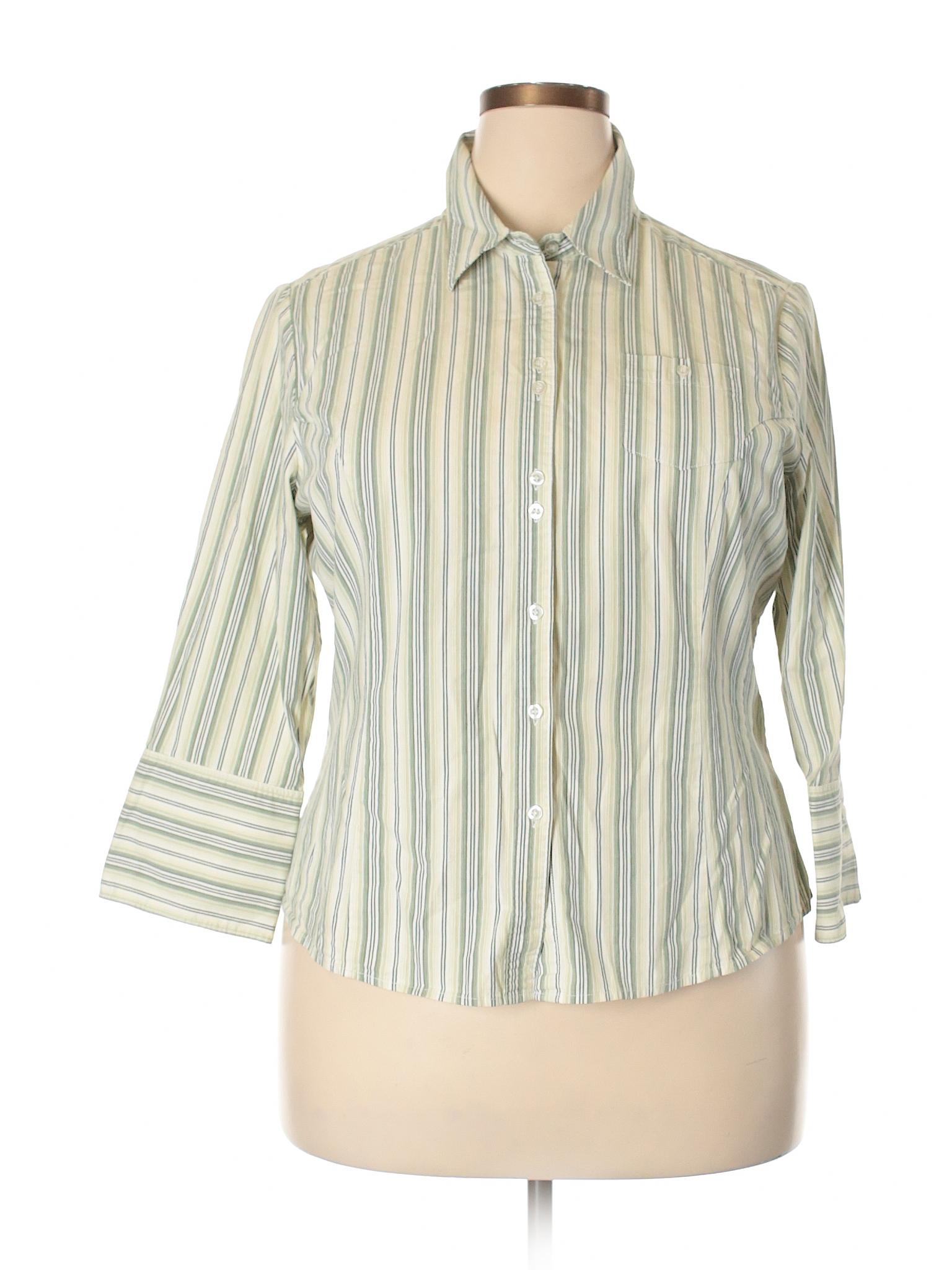c44471e3 Dark Green Button Down Shirt Womens - DREAMWORKS